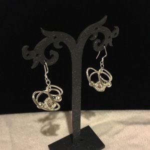 Jewelry - Sterling Silver spiral ball earrings .925 silver.